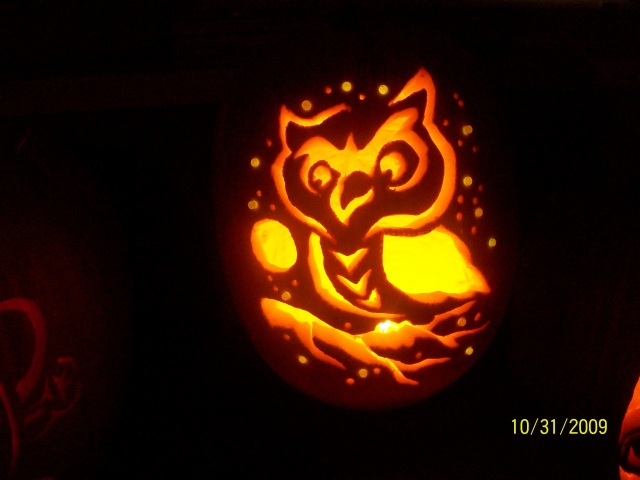 My family is so talented at pumpkin-carving!